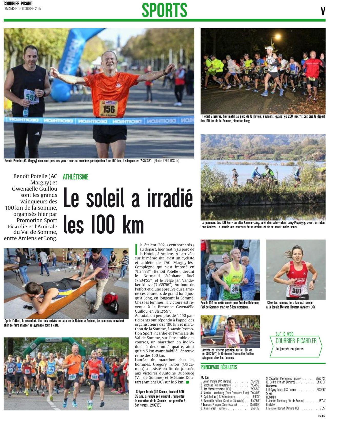 2017 courrier picard 100km somme