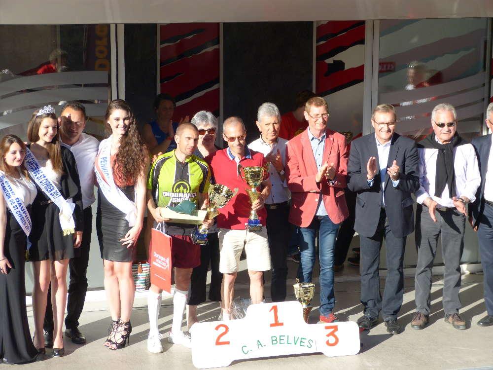 Belves 100 et 50 km arrivees et podiums2