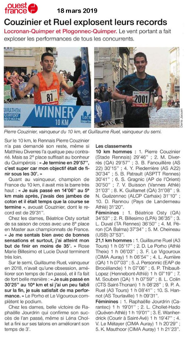 Ouest france 18 03 2019