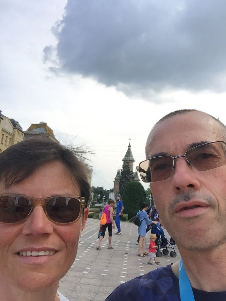 Selfie nathalie stephane timisoara